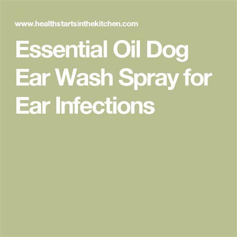 essential oil dog ear wash spray  ear infections essential oils pinterest sprays dog