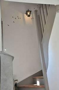 1000 images about couloirs palier escalier on With escalier peint 2 couleurs