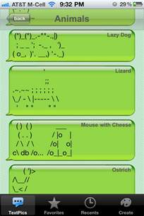 Cool Text Message Symbols Animals