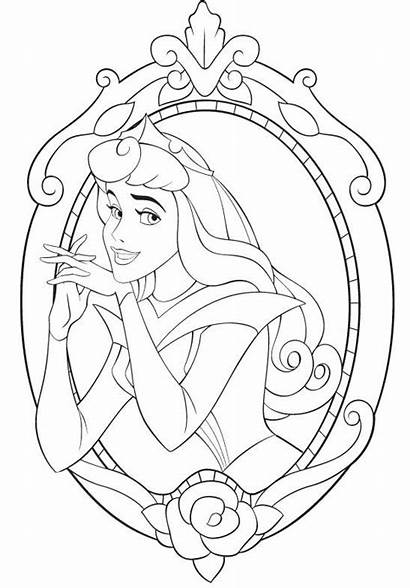 Disney Coloriage Coloring Aurore Princesse Imprimer Mirror