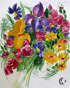 Aquarell Malen Blumen : blumenstrau aquarellmalerei malen am meer ~ Articles-book.com Haus und Dekorationen