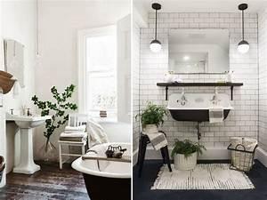 stunning salle de bain retro noir et blanc images With salle de bain noir et blanc design