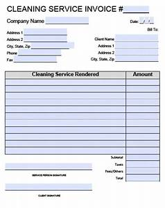 free house cleaning service invoice template excel pdf With janitorial invoice template