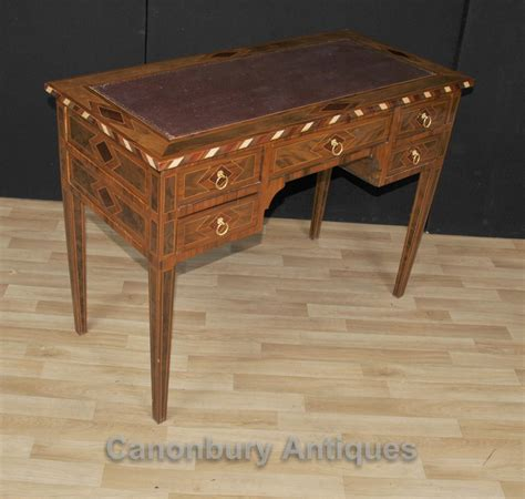 bureau marqueterie regency knee desk marquetry inlay writing table bureau