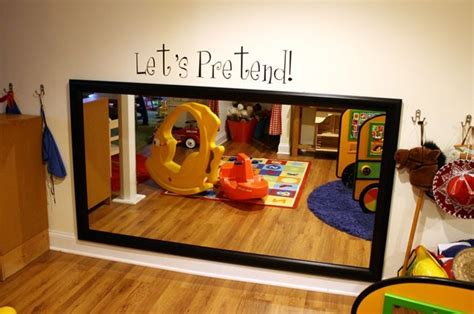 Kid Height Mirror In The Play Area... So Fun!