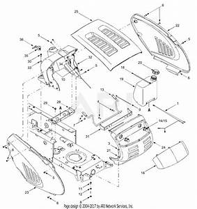 Troy Bilt 13aj689g766 Tuffy  2004  Parts Diagram For Hood