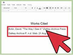 How To Cite An Interview In MLA Format With Sample Citations MLA Bibliography Page MLA Format Works Cited Template MLA Citation Understanding And Writing In The MLA Format Style Or MLA Citation For A Wikipedia Article Click The Cite This Page