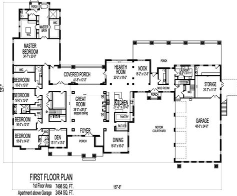 6 Bedroom House Plans by 6 Bedroom Bungalow 10000 Sf 1 Storey House Plans Sioux