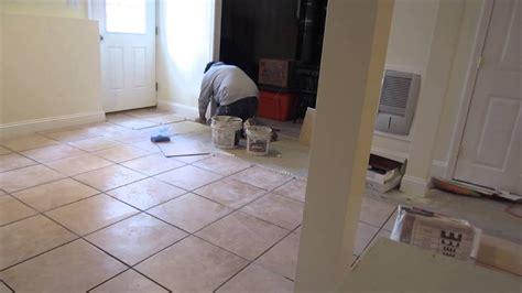 time lapse    ceramic tile installation
