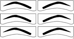 diy eyebrow stencils printable making stencils for With printable eyebrow stencil template