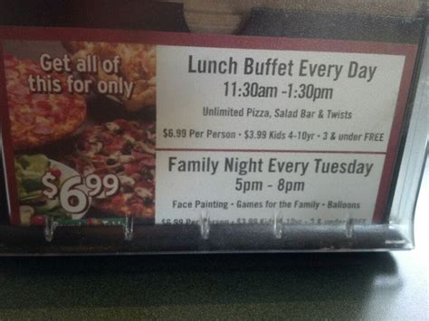 round table pizza buffet hours lunch buffet hours yelp