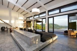 beton design concrete floor furniture gray living room interior design ideas
