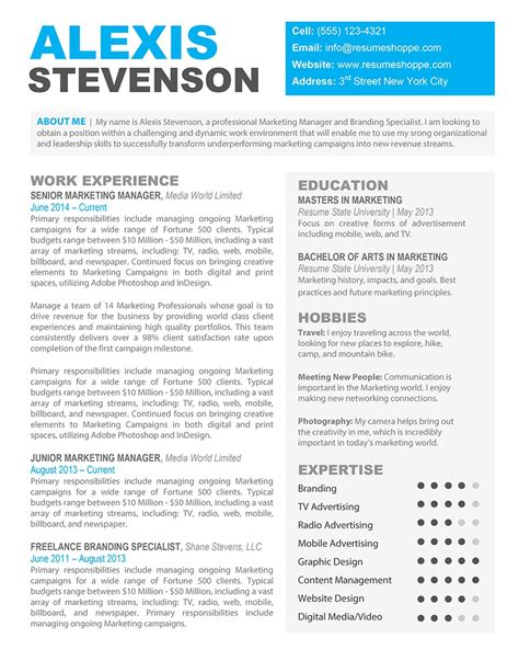free creative resume templates for mac website resume