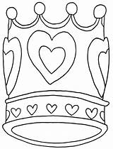 Crown Coloring Pages sketch template
