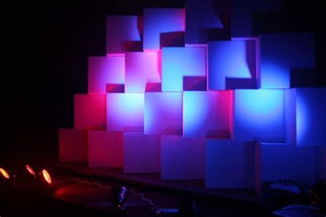 boxes  stage design event design inspiration