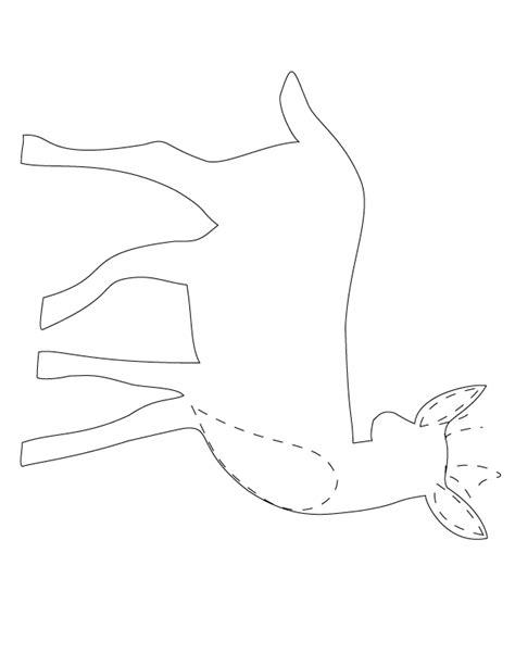 deer template animal tote craft