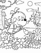 Coloring Gardening Pages Palm Print sketch template