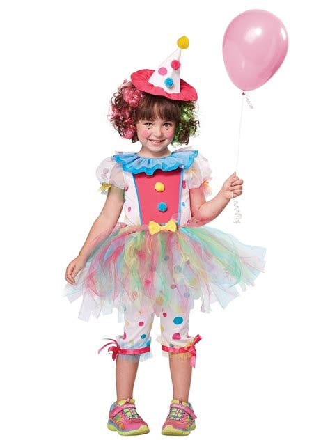 child rainbow clown costume  fancy dress ball