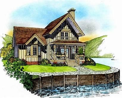 Cottage Quaint Floor Plan Plans Architectural Architecturaldesigns