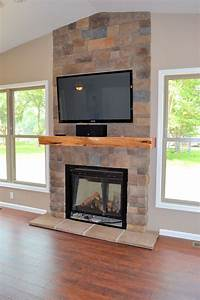 Architecture Fireplace Stone Wall Decoration Ideas For