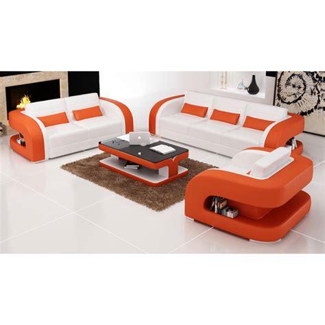 canapé cuir orange fauteuil canapés design en cuir poltroni en cuir