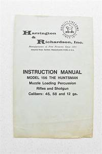 Harrington Richardson Instruction Manual Model 156