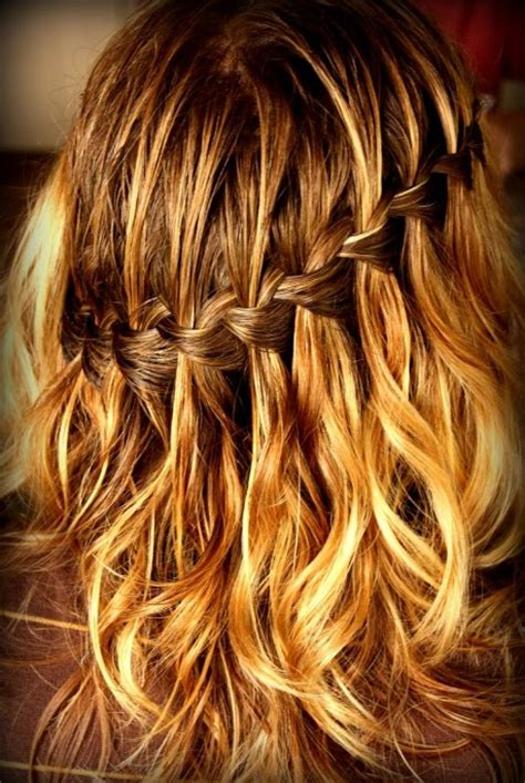 beautiful cascade waterfall braid hairstyles gallery