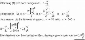 Kmh Berechnen : die gleichm ig beschleunigte bewegung ~ Themetempest.com Abrechnung