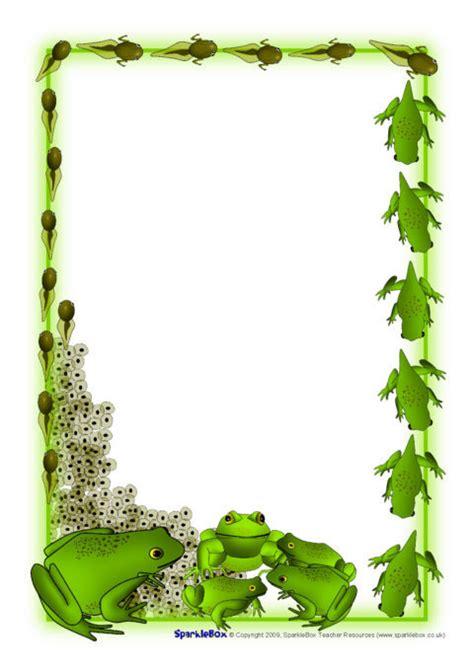 Frog Life Cycle A4 Page Borders (SB2364) - SparkleBox