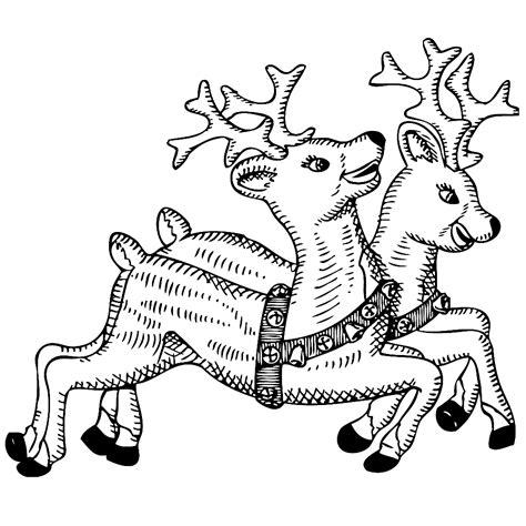 Kerstman Rendier Kleurplaat by Leuk Voor Rendieren De Kerstman