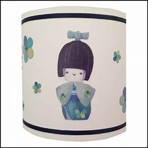 Abat Jour Fille : abat jour sissi kokeshi verte lili pouce boutique d co chambre b b enfants et cadeaux ~ Teatrodelosmanantiales.com Idées de Décoration