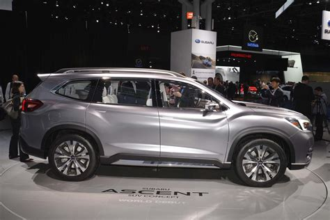 subaru ascent suv revealed   york  drive