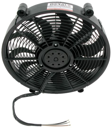 best electric radiator fans derale 17 quot high output electric single radiator fan