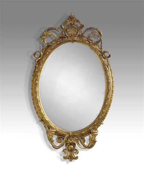 antique oval mirror gilt mirror candle sconse mirror