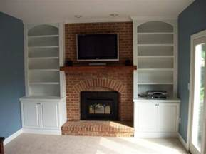furniture the built in shelving around fireplace to give