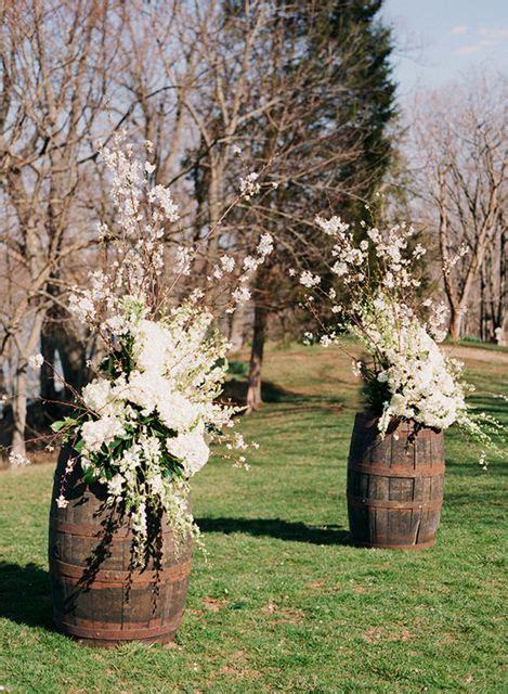 barrels altar flowers  white cherry blossom  pinterest