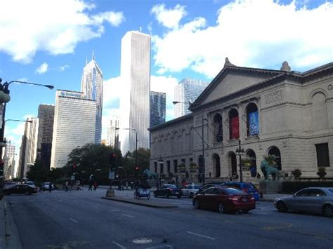 View Of Art Institute (on Right), The First Building On