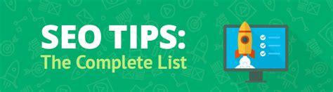 seo advice 201 powerful seo tips that actually work