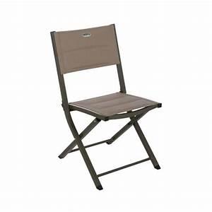 Chaise Pliante Exterieur : chaise exterieur pliante essentia taupe achat vente fauteuil jardin chaise pliante essentia ~ Teatrodelosmanantiales.com Idées de Décoration