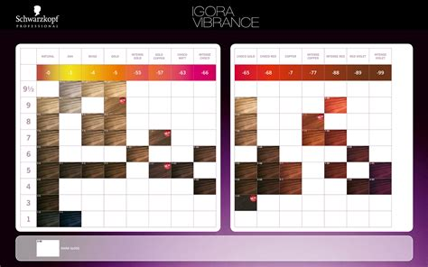 schwarzkopf professional igora vibrance color chart