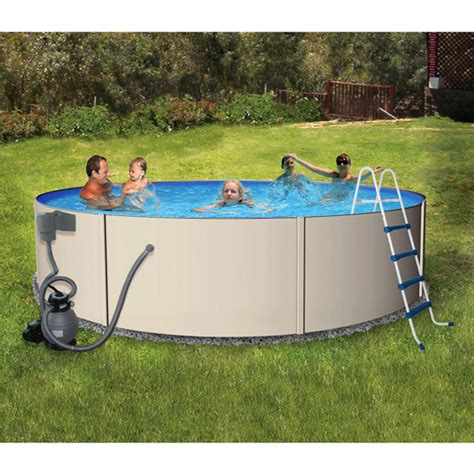 "Pro Series Round 15'x 48"" Deep Metal Frame Swimming Pool"