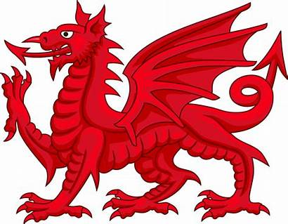 Welsh Dragon Ddraig Svg Wikipedia Goch