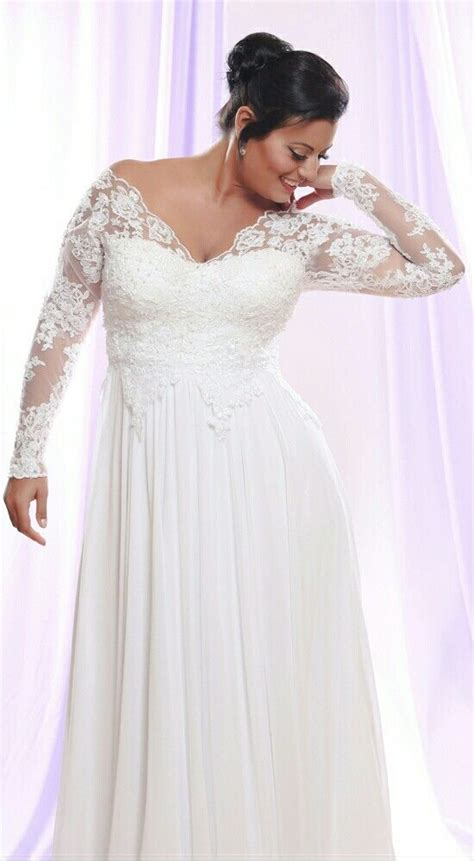 timeless  size wedding dress  long lace sleeves