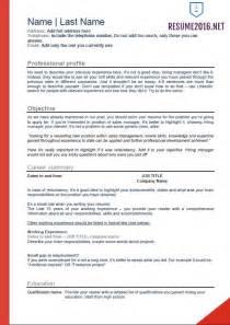 resume templates 2016 word flawless resume exles 2016 2017 resume 2016 professional resume template 2016 jennywashere com