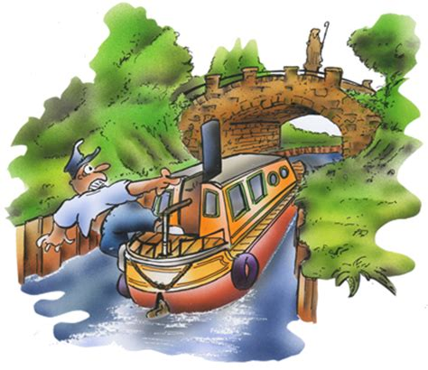 Cartoon Canal Boats by Boat Buddys