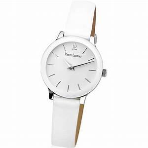 Montre A La Mode : montre pierre lannier 019k600 montre cuir blanche mode ~ Melissatoandfro.com Idées de Décoration