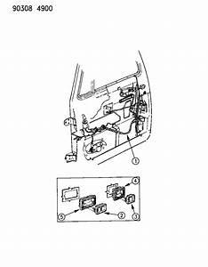 1992 Dodge W350 Wiring - Door