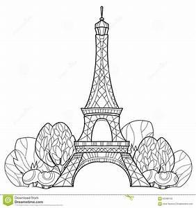 France Eiffel Tower Sketch | www.imgkid.com - The Image ...
