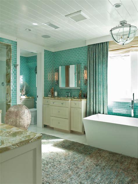 Coastal Bathroom Ideas by Balboa Island House With Coastal Interiors Home
