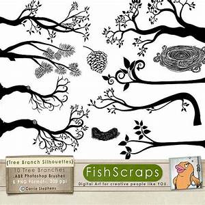 Tree Branch Silhouettes, Leaves + Branch ClipArt, Tree